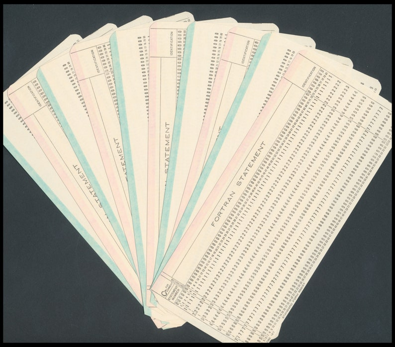 Vintage Computer Punch Cards / 1970's Mainframe Data image 0