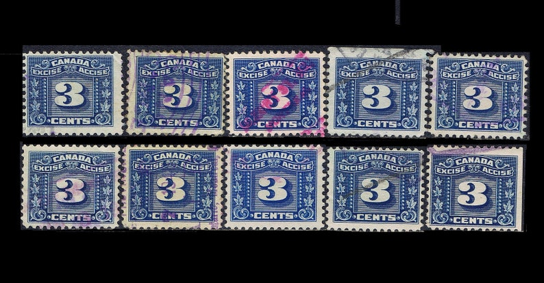 Vintage 1934 Excise Stamps  Canadian Tax Stamp  Collage image 0