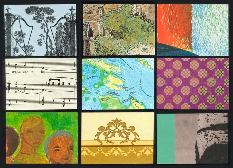 Artist Trading Card Backgrounds  Mixed Package  Use for ATC image 0
