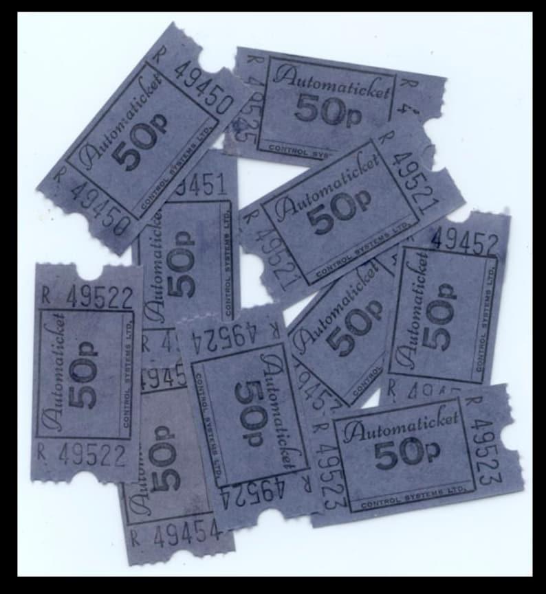 Ten Retro British Tickets / Automaticket 50p / Keep Britain image 0