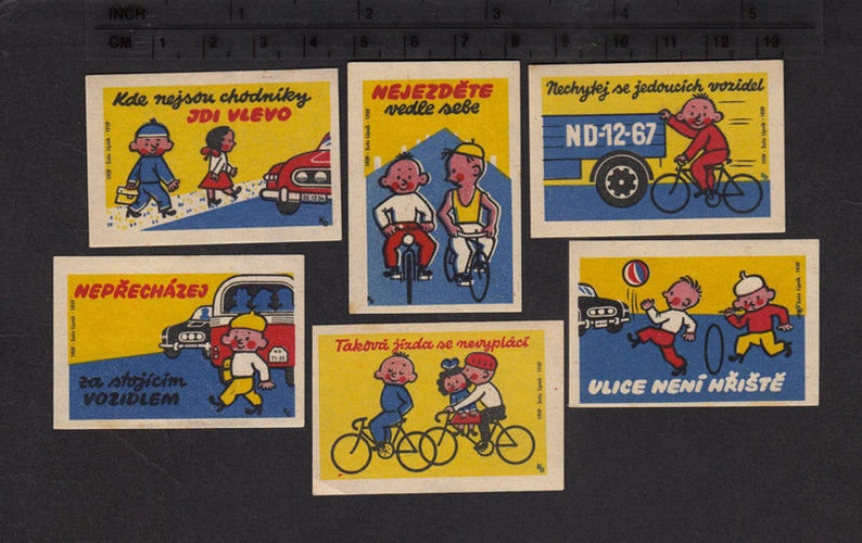 1959 Matchbox Labels  Safety Rules for Children  Collage image 0