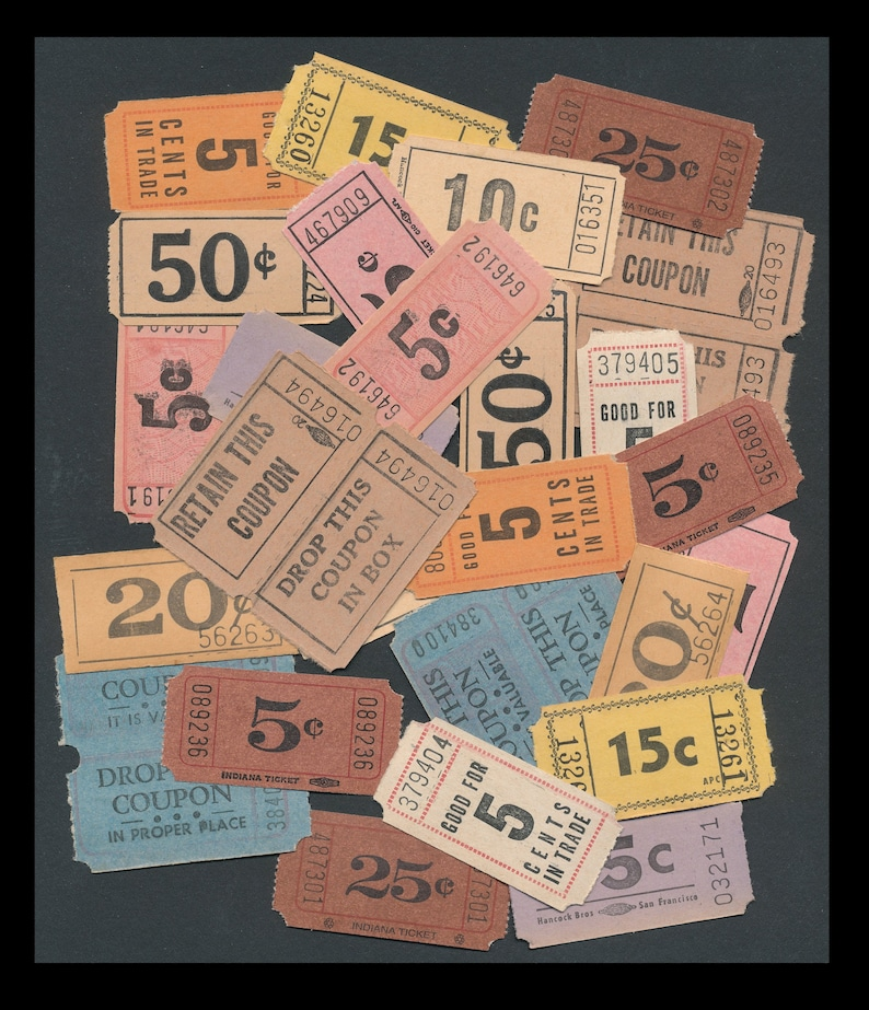 Vintage Original Admission Tickets / Carnival Admit One / image 0