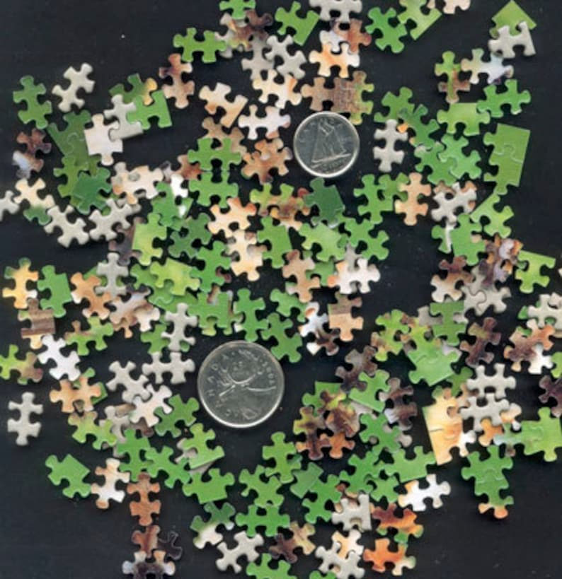 Teeny Tiny Jigsaw Puzzle Pieces / Perfect for Artist Trading image 0
