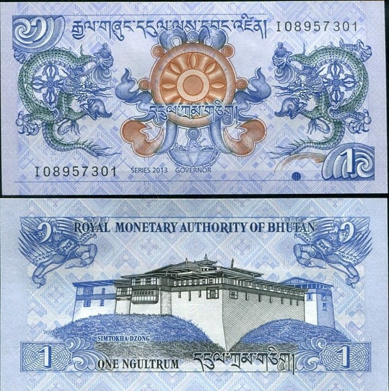 Kingdom of Bhutan Currency  Wonderful Images   Altered image 0