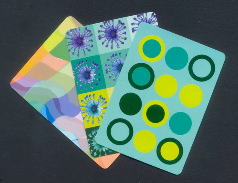 Patterned Playing Cards / Colourful Designs for Artist Trading image 0