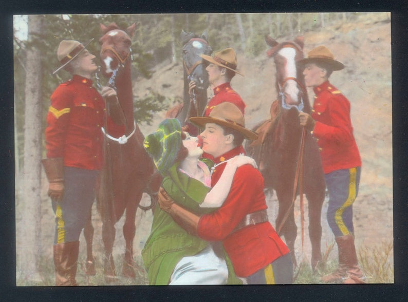 Two Satirical RCMP Postcards from Canada / Royal Canadian image 0
