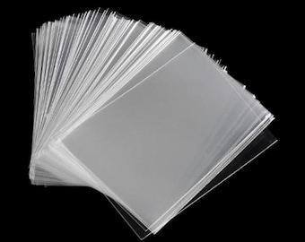 100 Soft Plastic Trading Card Sleeves / Acid Free, Archival Protection for ATC, ACEO, KPop, Baseball, Hockey, Pokemon, Magic The Gathering