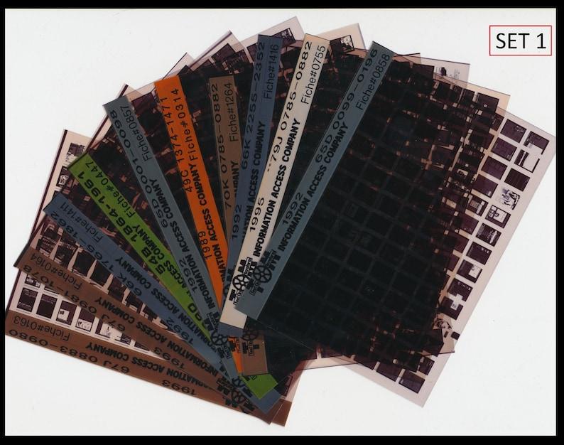 Vintage Microfiche / 3 Different Types Black and Blue / Junk image 0
