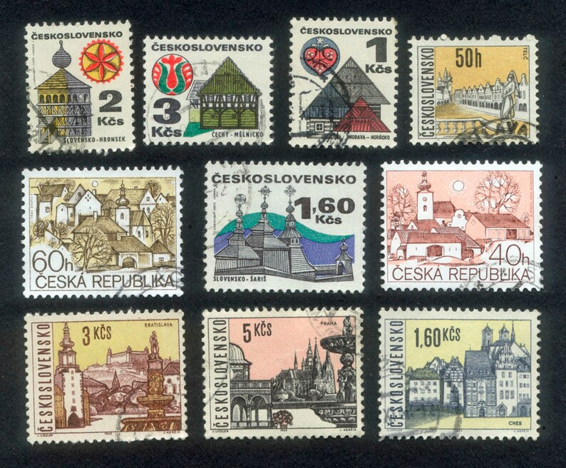 10 Beautiful Building Stamps from The Czech Republic and image 0