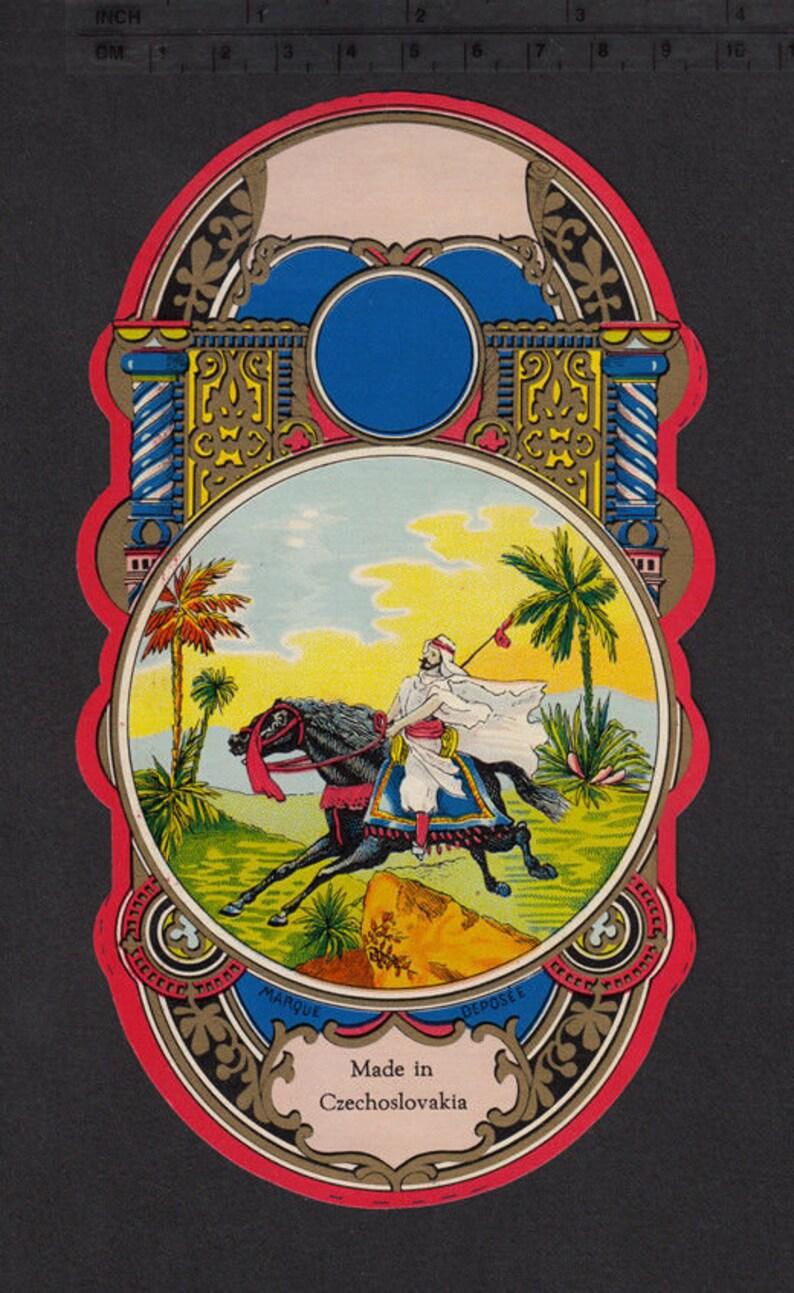 Exquisite Antique Fez Box Label from Czechoslovakia / image 0