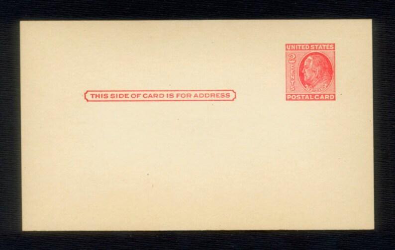 Four 1951 Ben Franklin Preprinted Mint Postcards / Mail Art image 0