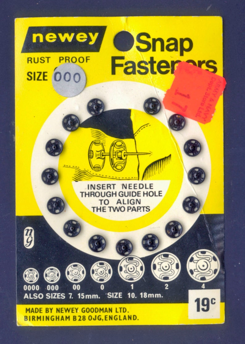 Vintage Snap Fasteners from Birmingham England / UK Collage image 0