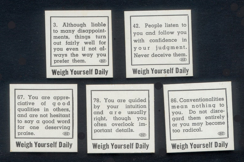 1930s Vintage Weigh Scale Fortune Cards  Altered Art and image 0