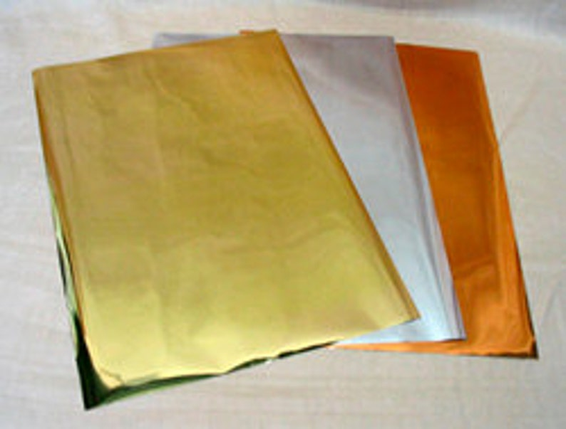 Transfer Foil / Gold Silver Copper / Simple and Easy to Use image 0