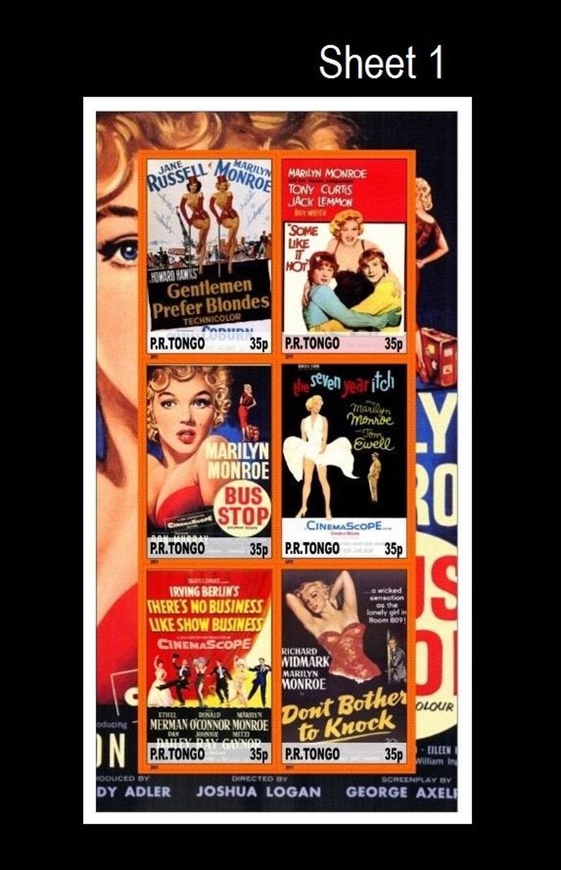 Retro Movie Posters / Marilyn Monroe Postage / 1950's Sex image 0