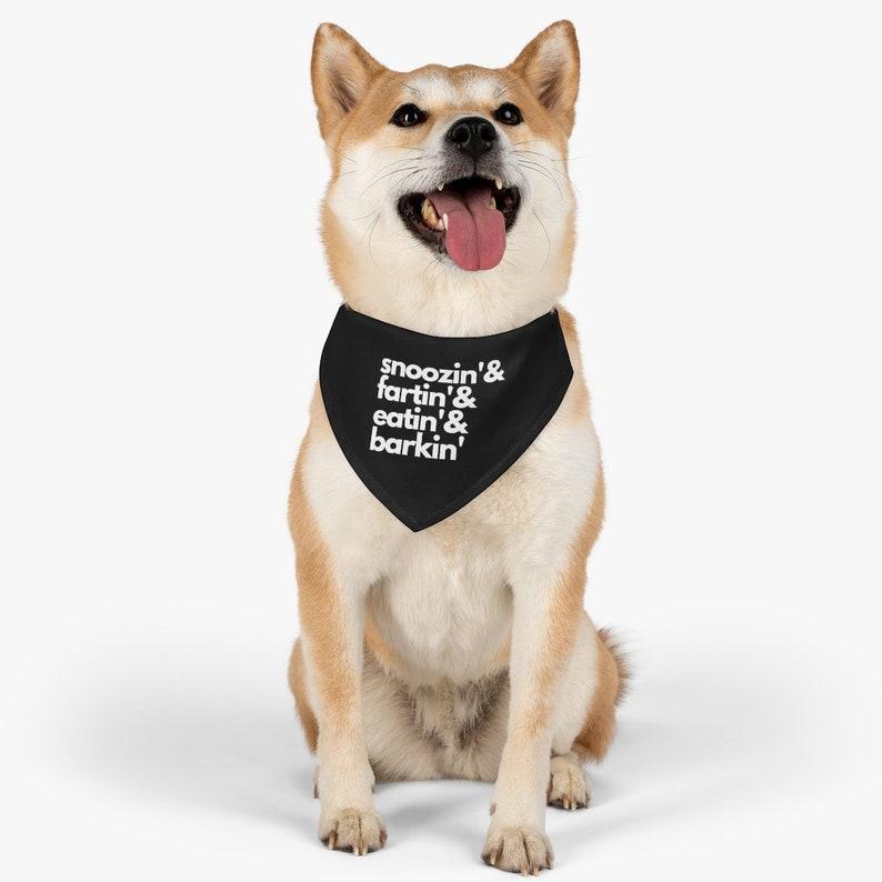 Dog Bandana Pet Collar Snoozin /& Fartin Cute  Dog Collar Bandana-Scarf For Boy or Girl Dog Funny Quote