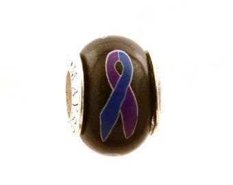 Rheumatoid Arthritis Jewelry Awareness Ribbon Bead Charm for all European Charm Bracelets MAYselect by May Tagher MAYcreations