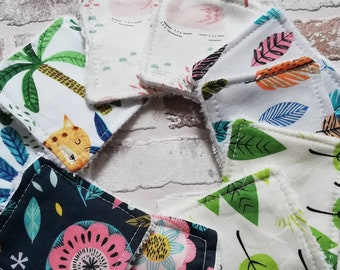 """Reusable bamboo cloth make up & skincare wipes  3"""" square, eco friendly and plastic free"""