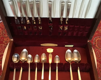 Community Plate Incomplete Silverware Set and Box