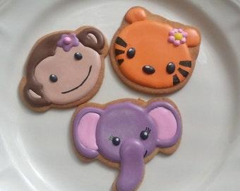 Jungle Animal Cookies 1 DOZ