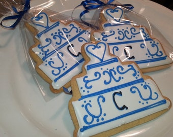 Wedding Cake Cookies Bridal Favors