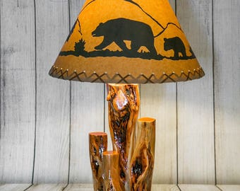 Table Lamps made with Diamond Willow