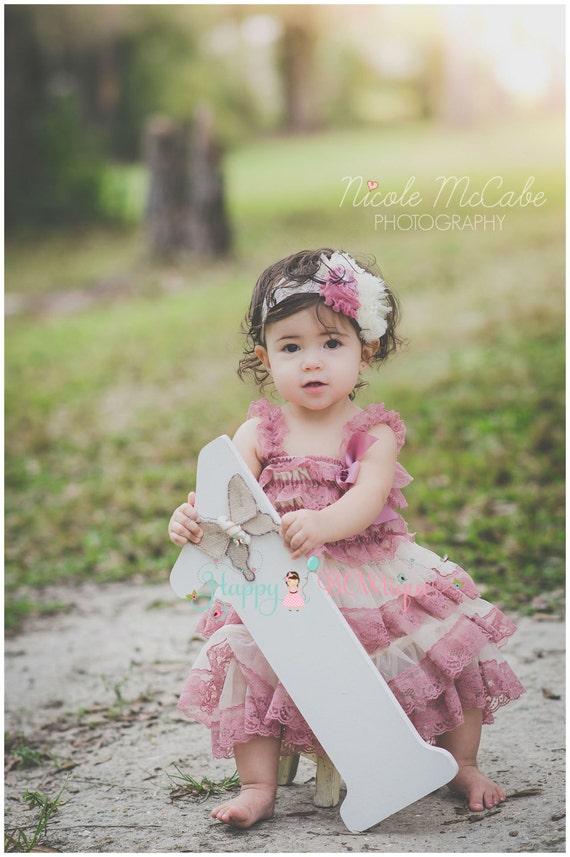 cb19af03a065 Baby Champagne Rose flower headband baby girls HeadbandMTM