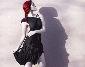 "Handmade Black Dress ""B. No 4"", ROHMY Black Label / asymmetrical / Nocturne Collection"