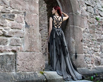 """Floor-length handmade Gown """"Storm"""" ///  ROHMY Couture /// Evening Gown /// Eden Collection"""