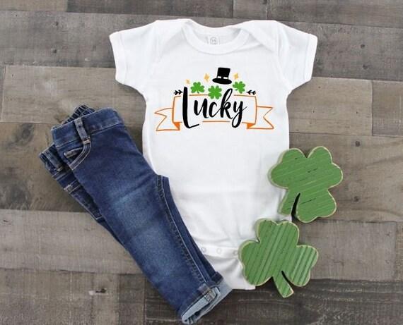 PATRICK/'S PATTY/'S PAT/'S DAY IRISH GREEN LUCKY GOLD T-SHIRT CHILDREN/'S KID/'S ST