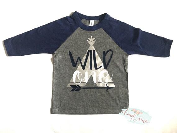 Wild One Birthday Boy Raglan Shirt Bear Baseball Tee Xmas Ornaments