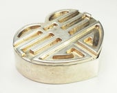 Capello Studio Torino Italy hand made heart shaped treasure 800 silver pill box