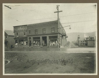 Clothing shop store street view antique photo
