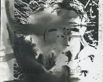 Abstract surreal face vintage art photo