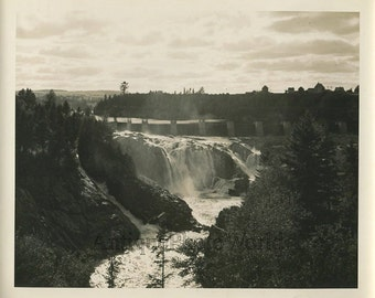 Canada New Brunswick water dam antique photo
