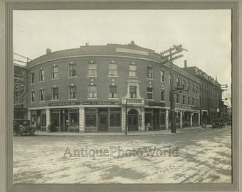 Everett Massachusetts store shops street view antique photo