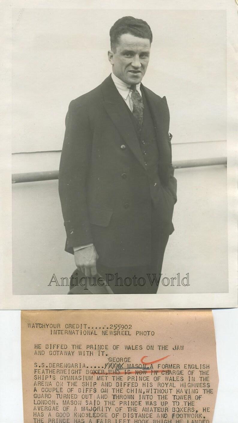 George Boxer lightweight boxer UK antique sport photo