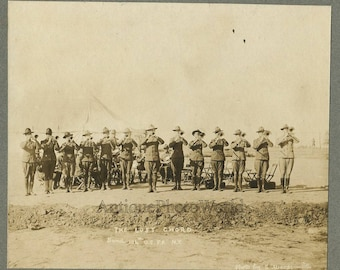 Military music band New York state antique photo