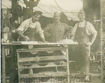 Military cooks chefs bakers antique culinary photo