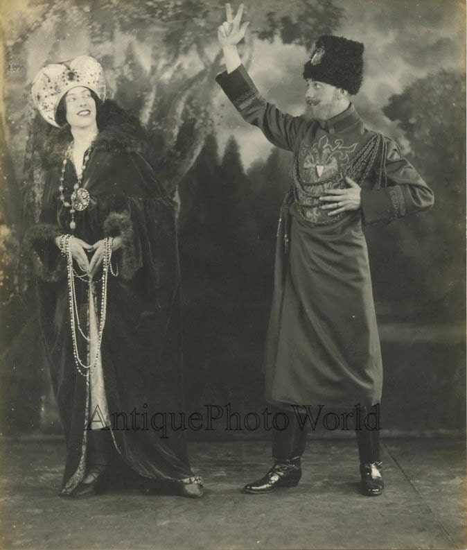 Russian actor in costume antique photo pc