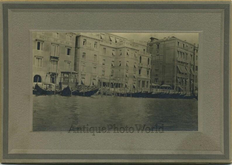 Italy gondolas boast antique photo