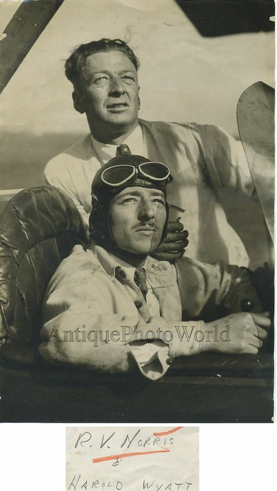 orginal vintage photo archival photo French airmen military pilots contact prints aviatic event aviation air meeting