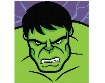 PATTERN- Hulk Crochet/Cross Stitch Graph