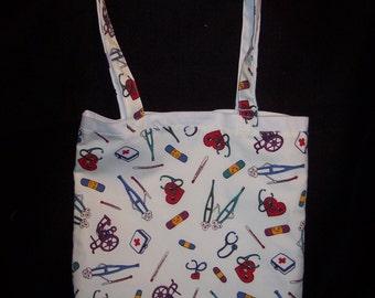 White Medical Themed Tote Bag
