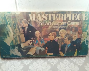 Vtg 1970 Parker Bros Masterpiece Art Auction Game, Board Game, Family Game Night