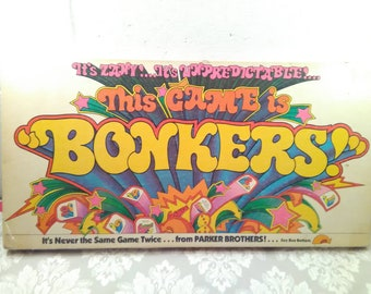 Vtg 1978 Version of This Game is BONKERS Board Game by Parker Brothers, Complete, Family Game Night, Vintage, 1970s