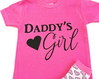 b41af375c Daddy's Girl Tee Shirts, Shirts for Daddy's Girl, Dad's Girl Tee Shirts,  Tshirts For Daddy's Girl, Daddy And Me Shirts, I'm A Daddy's Girl