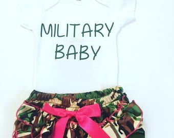 2edfa3d4dca Military Baby Bodysuit