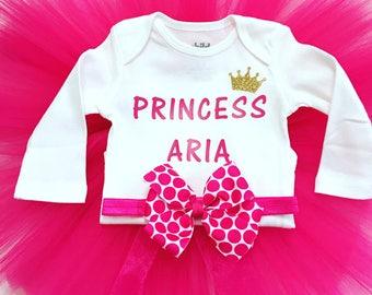 Newborn Tutu Set, Hospital Outfit, Newborn Going Home, Newborn Tutu Outfit, Birthday Tutu Set, First Birthday Tutu, Princess Outfit