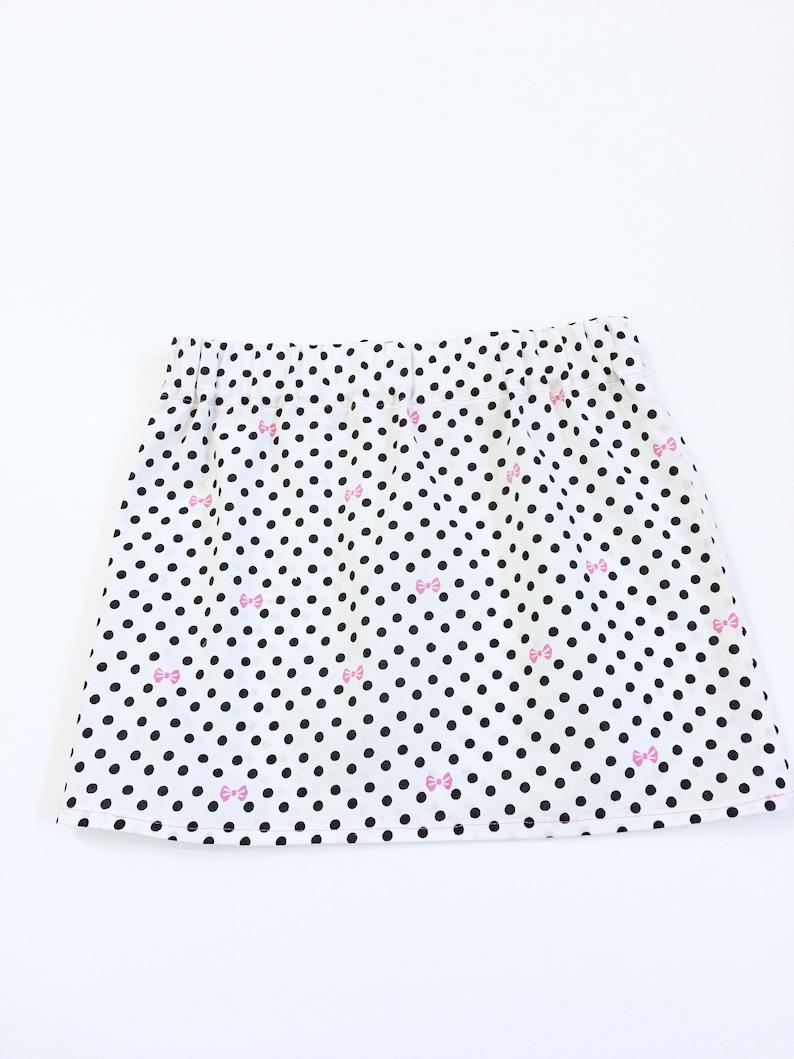 5e9c0778b74 Les filles noir et blanc à pois jupe jupes pour les